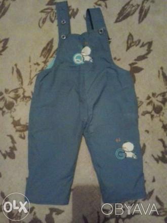 Тёплые штаны в идеальном состоянии от 1-го до 2-х лет. Длина от пояса 42 см., дл. Каменское, Днепропетровская область. фото 1