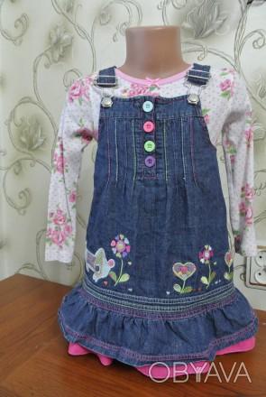Детский сарафанчик в идеальном состоянии. На 2-3 годика. Рост 92-98 см. Длина -. Запорожье, Запорожская область. фото 1