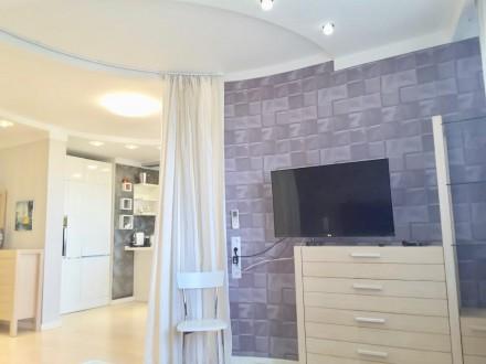 Долгосрочная аренда 1-комнатной квартиры с дизайнерским ремонтом в элитном ЖК «Г. Голосеево, Киев, Киевская область. фото 7