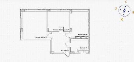 Продам простору 2-кімнатну квартиру у готовому будинку Ірпеня.   Знаходиться у. Ирпень, Киевская область. фото 13