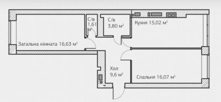 Продам 2-сторонню, 2-кімнатну квартиру у готовому будинку Ірпеня, на першому вис. Ирпень, Киевская область. фото 3
