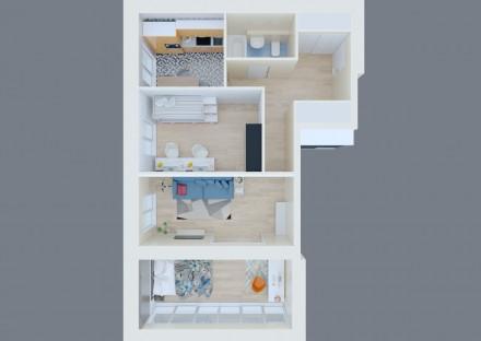 Цена снижена на 1000$. Квартира в ЖК Бест Хаус. 4 секция, 4 этаж, 78 м2. Лучшая . Победа, Днепр, Днепропетровская область. фото 2