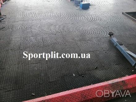 Резиновая плитка для гаража Наша компания производит резиновую плитку для гараж. Бровары, Киевская область. фото 1
