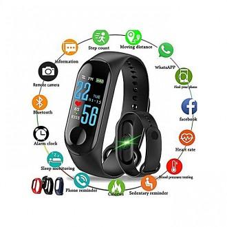 Фитнес-браслет intelligence health bracelet M3 Оснащен OLED дисплеем и имеет се. Переяслав-Хмельницкий, Киевская область. фото 4