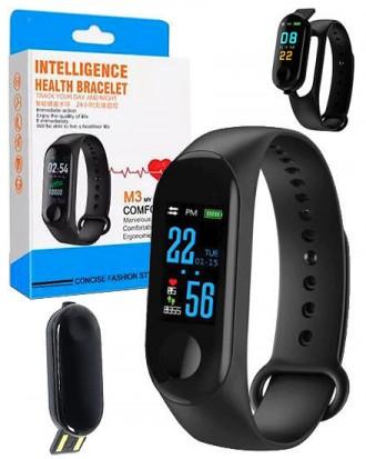 Фитнес-браслет intelligence health bracelet M3 Оснащен OLED дисплеем и имеет се. Переяслав-Хмельницкий, Киевская область. фото 2