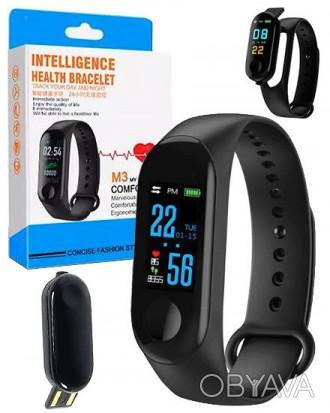 Фитнес-браслет intelligence health bracelet M3 Оснащен OLED дисплеем и имеет се. Переяслав-Хмельницкий, Киевская область. фото 1