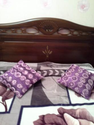 2х  спальный итальянский гарнитур из дерева. В него входит: кровать с матрасом, . Никополь, Днепропетровская область. фото 6