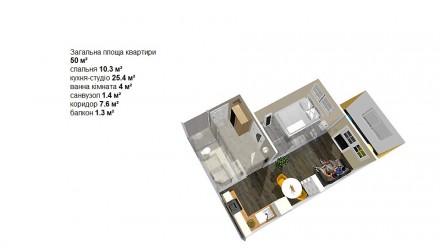 Це саме той випадок, коли ВАША нова квартира КРАЩЕ ВСІХ по всіх параметрах:  . Центральный парк, Ирпень, Киевская область. фото 10