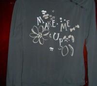 1) темно серая футболка на 11-12 лет,MGXX,цена-55гр. замеры:длина-52см.,  ш.пле. Киев, Киевская область. фото 2