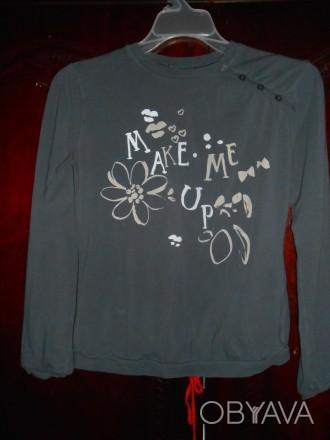 1) темно серая футболка на 11-12 лет,MGXX,цена-55гр. замеры:длина-52см.,  ш.пле. Киев, Киевская область. фото 1