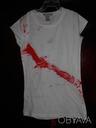 Белая футболка на 6-7 лет. в отличном состоянии,CLASSG замеры;длина-53см.,  ш.п. Киев, Киевская область. фото 1