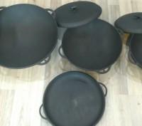 Сковорода чугунная, гриль, WOK, гусятница, казан. Донецк. фото 1
