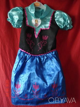 Продам платье Анны Фроузен Disney . Состояние нового. Длина от плеча 60 см, ш. Черкассы, Черкасская область. фото 1