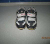 Продам недорого детские кроссовочки синего цвета, кожаные. подойдут как на девоч. Каменское, Днепропетровская область. фото 2