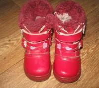сапожки зимові шкіряні червоного кольору. Устілка 15см. Миргород, Полтавская область. фото 3