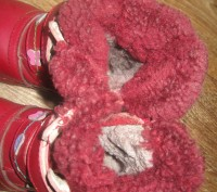 сапожки зимові шкіряні червоного кольору. Устілка 15см. Миргород, Полтавская область. фото 4