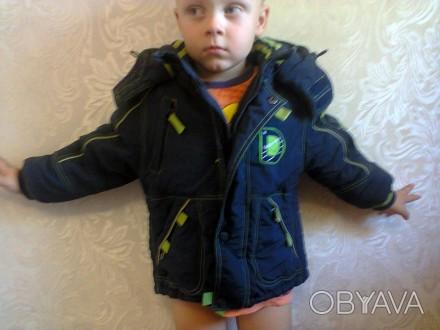 Курточки разных размеров от 1 до 3х лет. 1 Данило зимняя до 3х лет 2, 4 Зелена. Мелитополь, Запорожская область. фото 1