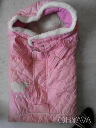 Продам конверт б/у на зиму розовый , удобно растегиваеся и застегивается.Внутри . Павлоград, Днепропетровская область. фото 1