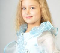 Голубое красивое платье. Принцесса Золушка на возраст 3-7 лет.  Платье на брит. Харьков, Харьковская область. фото 3