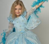 Голубое красивое платье. Принцесса Золушка на возраст 3-7 лет.  Платье на брит. Харьков, Харьковская область. фото 4