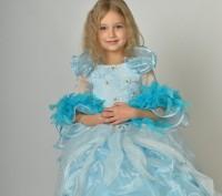 Голубое красивое платье. Принцесса Золушка на возраст 3-7 лет.  Платье на брит. Харьков, Харьковская область. фото 5