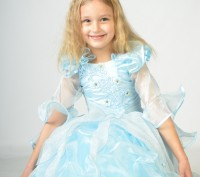 Голубое красивое платье. Принцесса Золушка на возраст 3-7 лет.  Платье на брит. Харьков, Харьковская область. фото 2