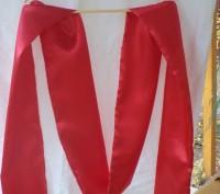 Продам нарядный атласный красный пояс ( кушак) для шаровар, вышиванки, украинско. Киев, Киевская область. фото 5