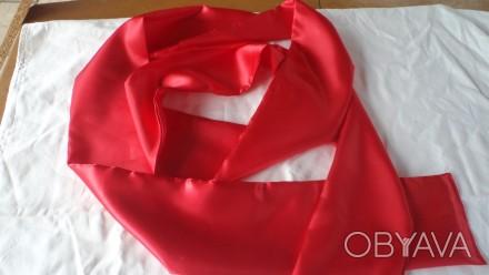 Продам нарядный атласный красный пояс ( кушак) для шаровар, вышиванки, украинско. Киев, Киевская область. фото 1