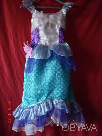 Продам очень красивое платье Русалочки Ариель для девочки 4-6лет Disney оригинал. Черкаси, Черкаська область. фото 1