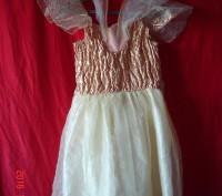 Продам карнавальный костюм для маленькой феи.  Длина от плеча до низа 70 см, д. Черкассы, Черкасская область. фото 3
