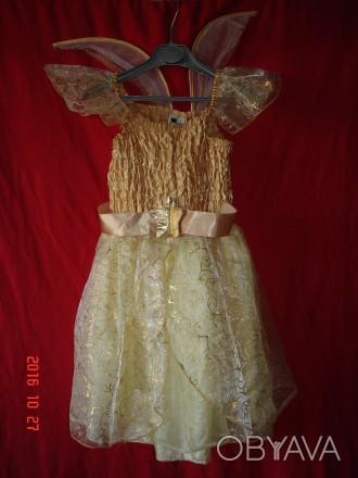 Продам карнавальный костюм для маленькой феи.  Длина от плеча до низа 70 см, д. Черкассы, Черкасская область. фото 1