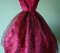 Продам карнавальное платье для маленькой феи.  Длина от плеча до низа 79 см, д. Черкассы, Черкасская область. фото 3