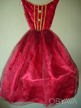 Продам карнавальное платье для маленькой феи.  Длина от плеча до низа 79 см, д. Черкассы, Черкасская область. фото 1
