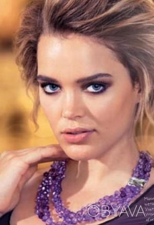 Модное ожерелье Пурпурный каскад,Ожерелье состоит из нескольких нитей бусин в ви. Бердянск, Запорожская область. фото 1
