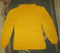 Вязаный свитерок без пятен светло-рыжего цвета в хорошем состоянии. Конотоп, Сумская область. фото 2