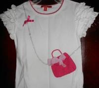 1) белая футболка на 3 года,с рисунком,ZARA KIDS,цена-45гр. длина-32см. ш.плеч. Киев, Киевская область. фото 4