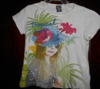 1) белая футболка на 3 года,с рисунком,ZARA KIDS,цена-45гр. длина-32см. ш.плеч. Киев, Киевская область. фото 2