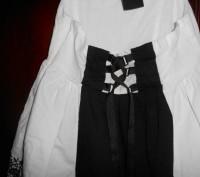 1) бело-черный сарафан на 8 лет,на подкладке,в боковом шве молния, в отличном с. Киев, Киевская область. фото 4