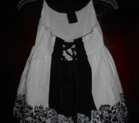 1) бело-черный сарафан на 8 лет,на подкладке,в боковом шве молния, в отличном с. Киев, Киевская область. фото 3