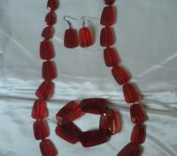 Добавьте яркого цвета в свой образ! Яркий и очень страстный цвет ожерелья из пол. Бердянск, Запорожская область. фото 4