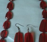 Добавьте яркого цвета в свой образ! Яркий и очень страстный цвет ожерелья из пол. Бердянск, Запорожская область. фото 3