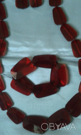 Добавьте яркого цвета в свой образ! Яркий и очень страстный цвет ожерелья из пол. Бердянск, Запорожская область. фото 1