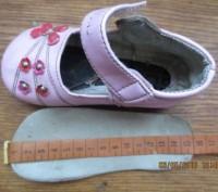Босоножки с закрытым носком лакированные, размер 18, по стельке 15 см.На правом . Днепр, Днепропетровская область. фото 3