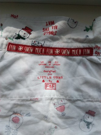 Рубашка нарядная, мальчик 3 месяца , новый год. Запоріжжя. фото 1