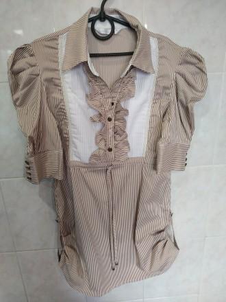 Блузка с коротким рукавом в школу 13-14 лет. Дніпро. фото 1