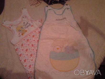 Слипики для новорожденных, очень удобные для сна ребенку, свободные ножки и ручк. Черкассы, Черкасская область. фото 1