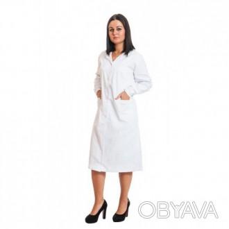Халат медицинский модельный женский, спецодежда