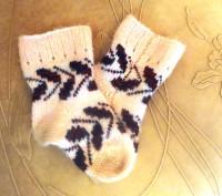 Носочки для девочки из чистой шерсти. Очень красивые и теплые. В идеальном состо. Белая Церковь, Киевская область. фото 2