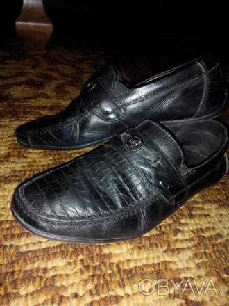 Туфли кожаные на мальчика 33 размера. Состояние нормальное.. Конотоп, Сумская область. фото 1