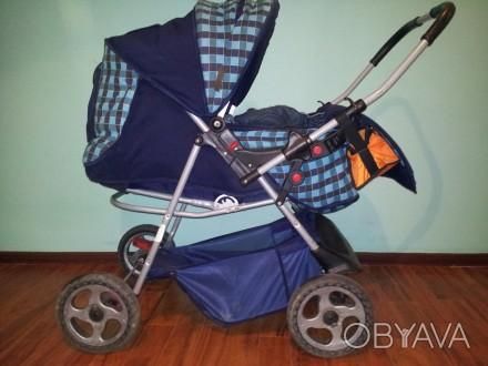 Продам дитячу коляску АДАМЕКС 2 в 1 (Польша), ширина коліс 58 см (легко заходить. Трускавец, Львовская область. фото 1